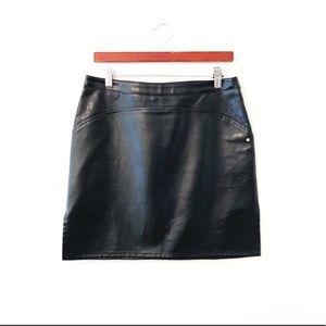 🖤VERSACE🖤 Leather Laser Cut Skirt